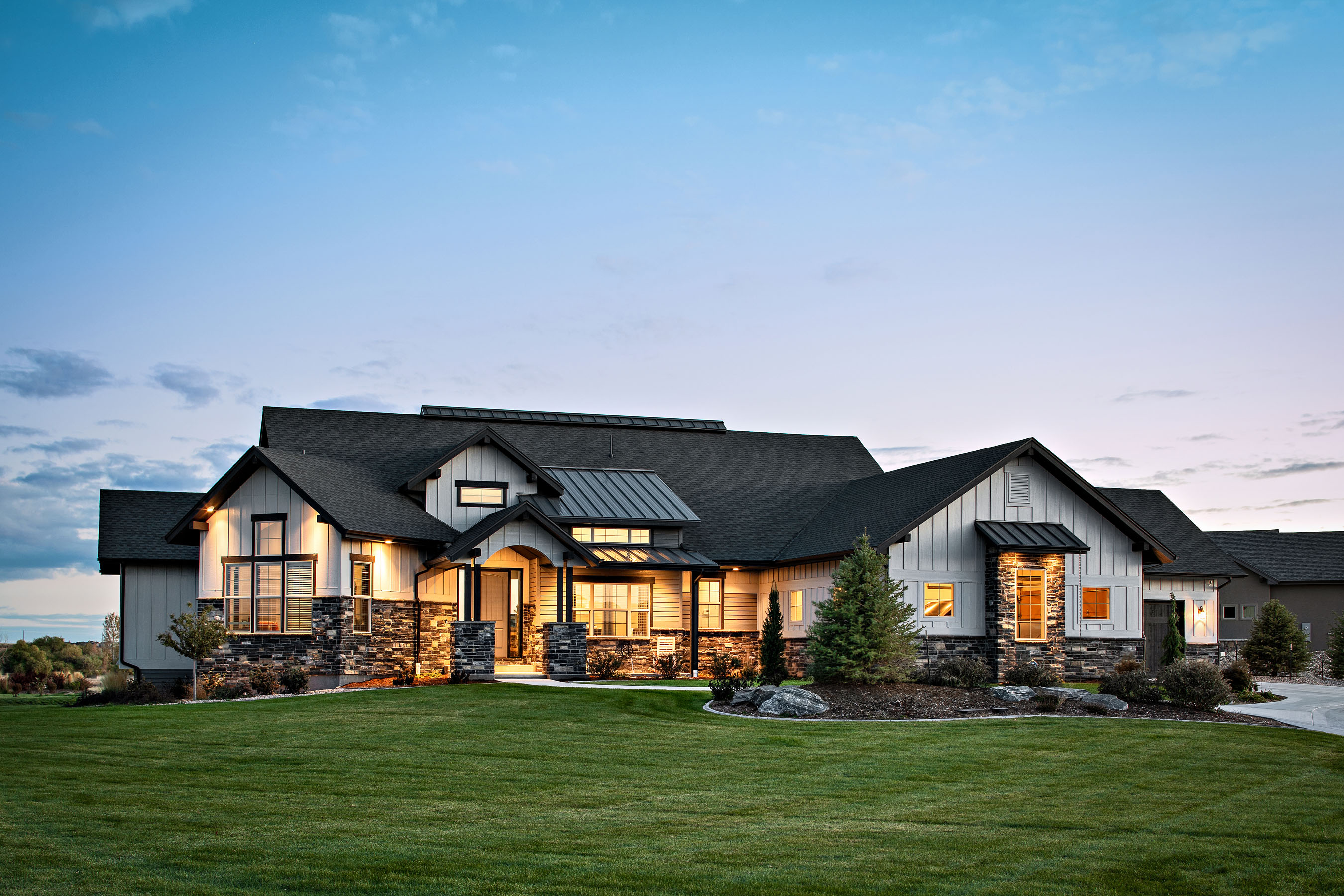 Architecture photography of Timnath, Colorado residence located in WildWing.