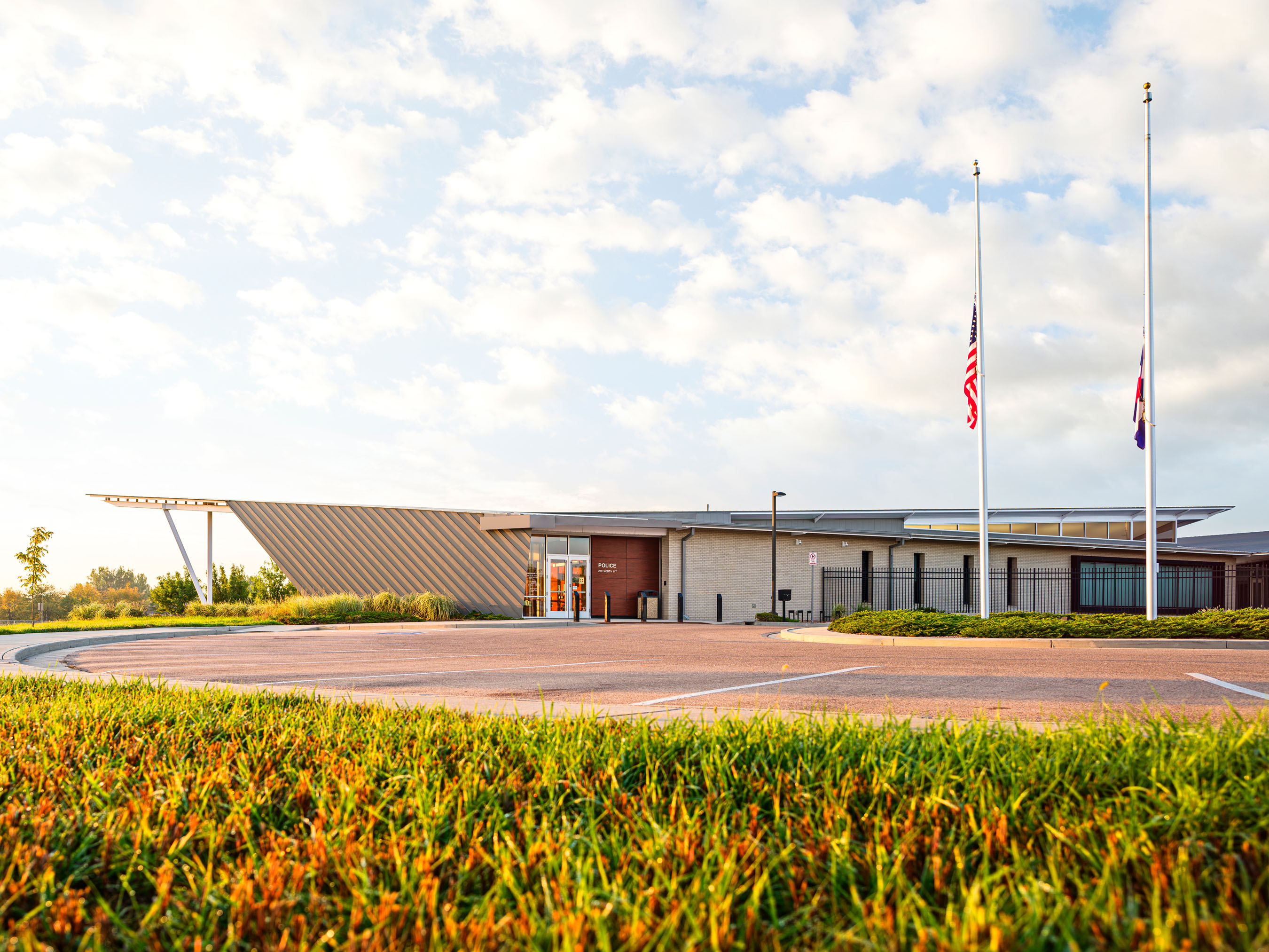 Architecture photography of Windsor Police Station located in Windsor, Colorado.