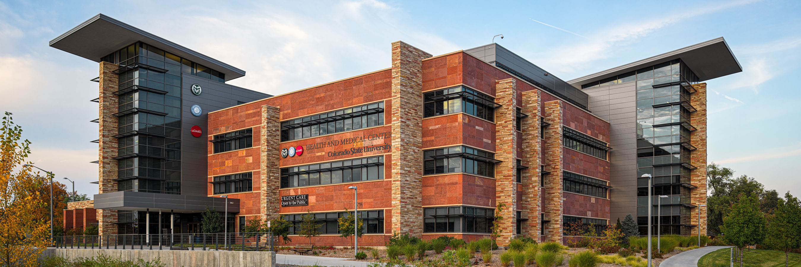 Architecture photography of CSU Health and Medical Center in Fort Collins, Colorado.