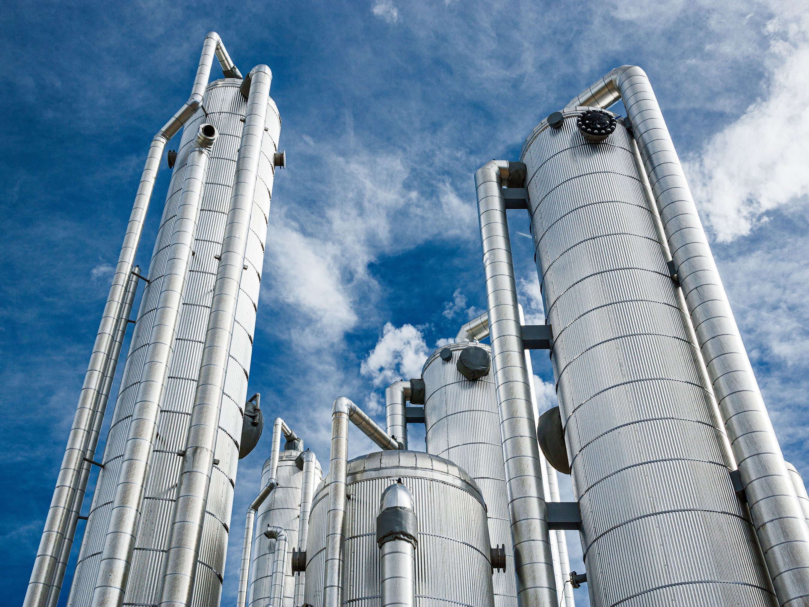 Architecture photography of Heartland Biogas plant located in LaSalle, Colorado.