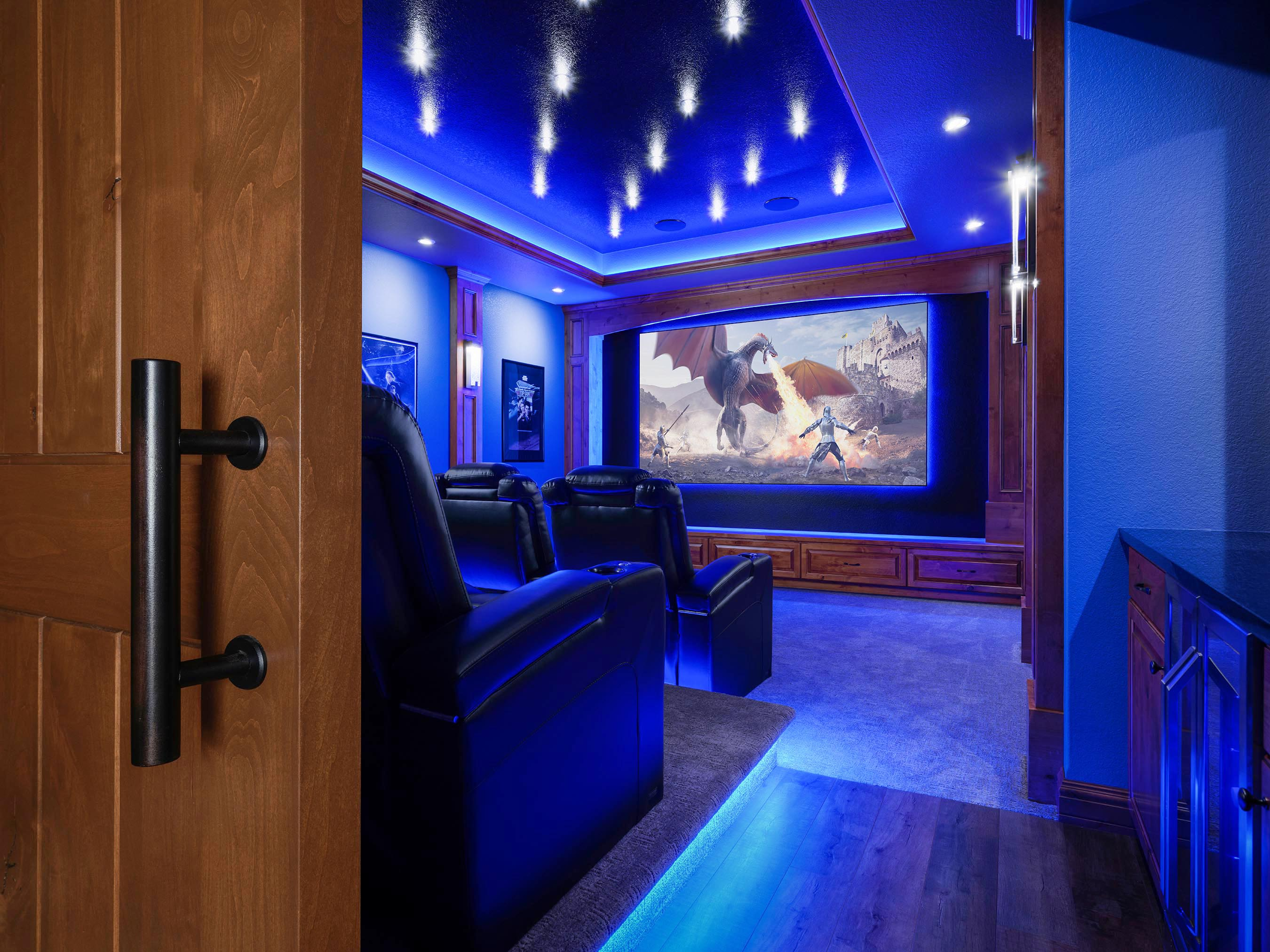 Interiors Photography • Home Theater by Imagine More