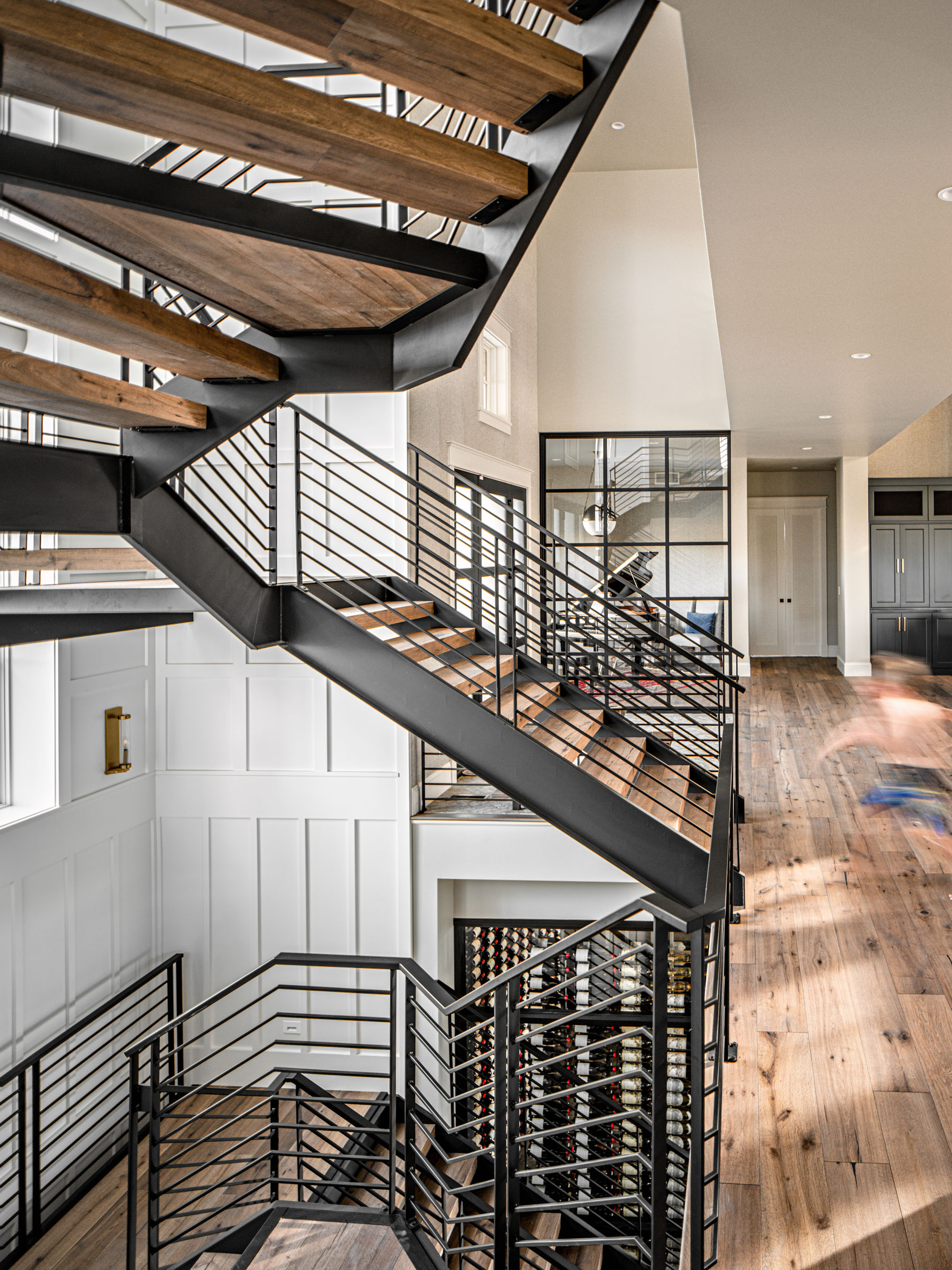 Interiors Photography • Custom Staircase by Brannen Homes