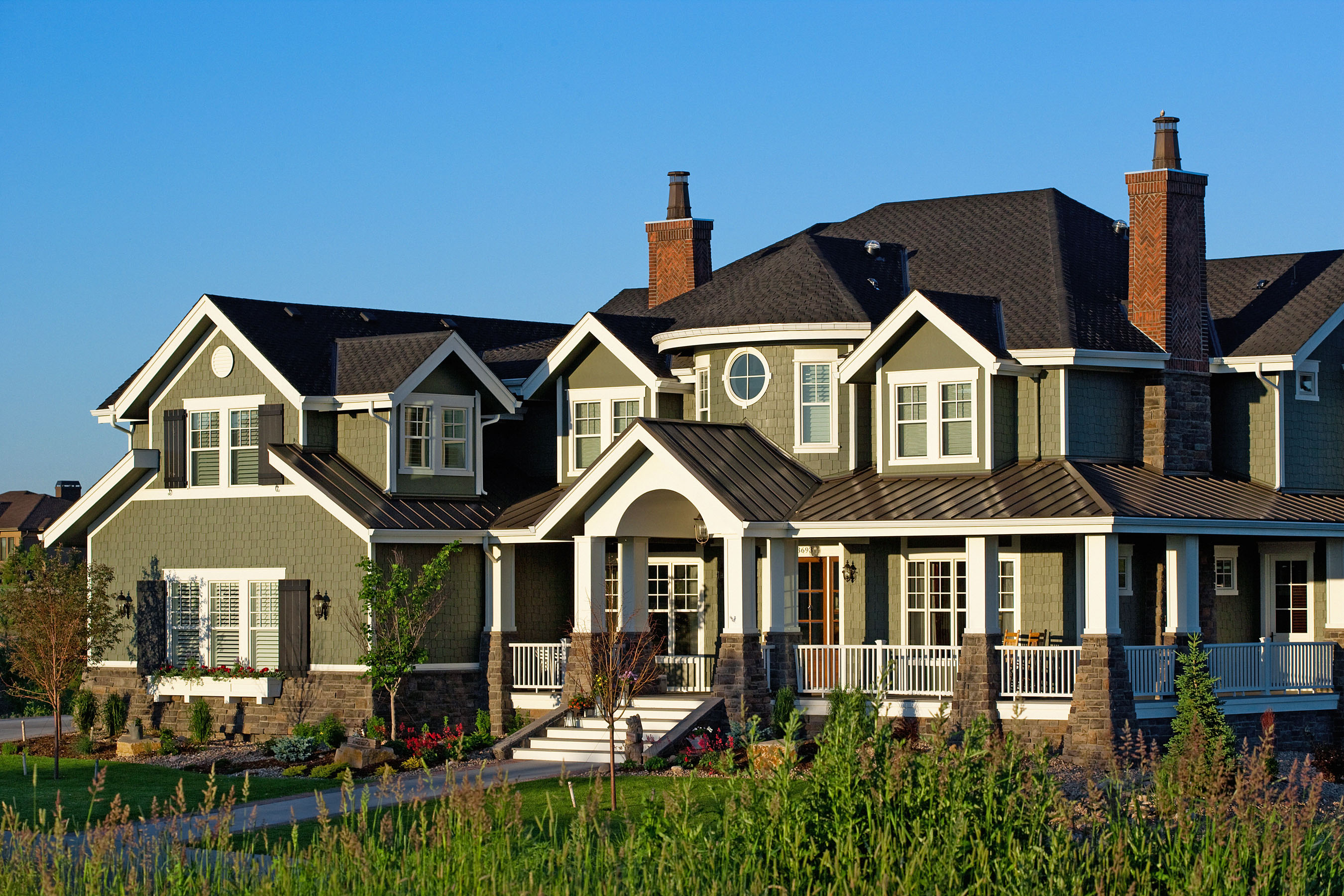 Residential Exterior Photography • Custom Home by Rentfrow Design